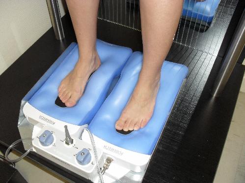 Semelles orthopédiques autour du pied